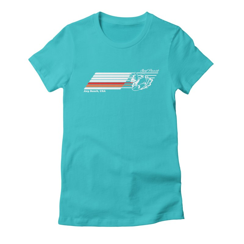 Surf Pooch Women's Fitted T-Shirt by Arlen Pringle