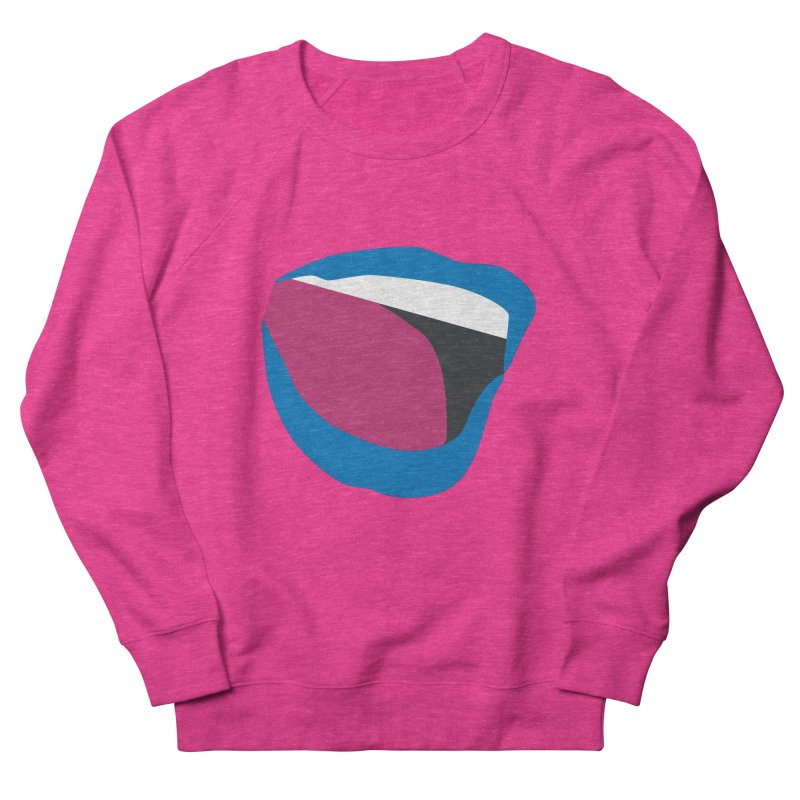 A woman's voice - BLUE LIPS Men's French Terry Sweatshirt by Arlon – Minimal apparel shop