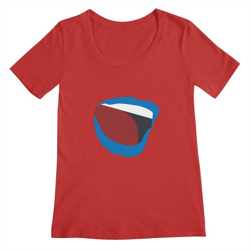 A woman's voice - BLUE LIPS Women's Regular Scoop Neck by Arlon – Minimal apparel shop