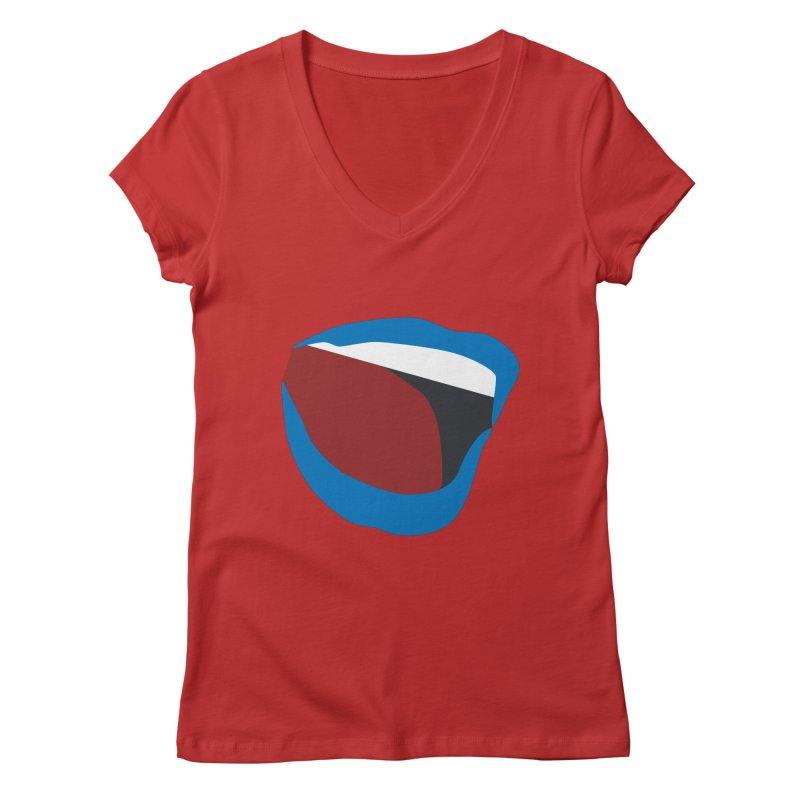 A woman's voice - BLUE LIPS Women's Regular V-Neck by Arlon – Minimal apparel shop