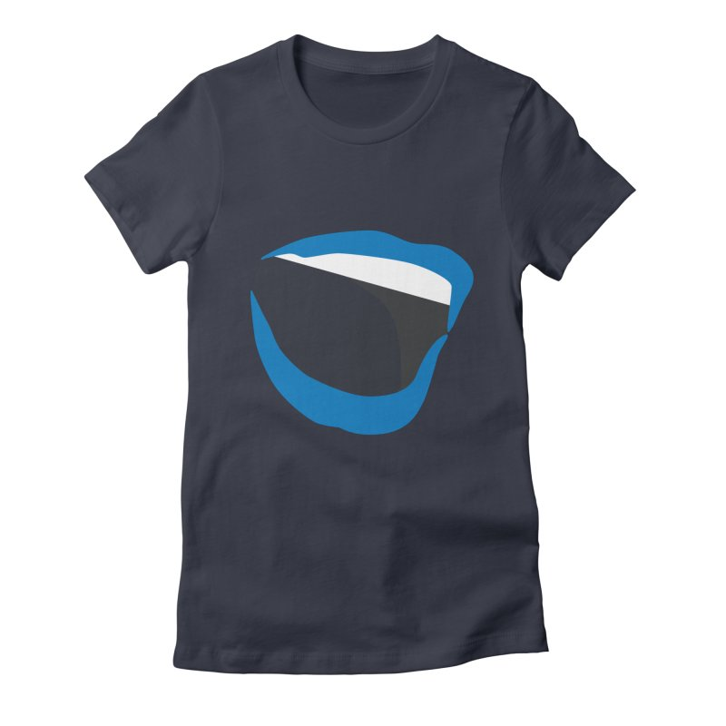 A woman's voice - BLUE LIPS Women's Fitted T-Shirt by Arlon – Minimal apparel shop