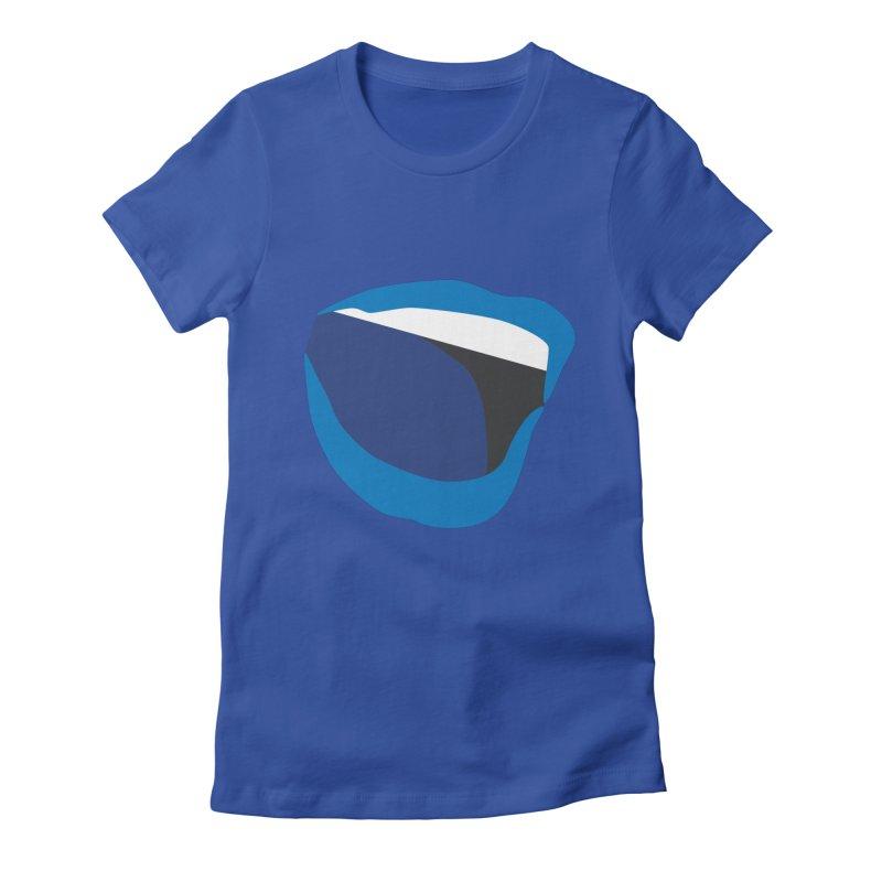A woman's voice - BLUE LIPS Women's T-Shirt by Arlon – Minimal apparel shop