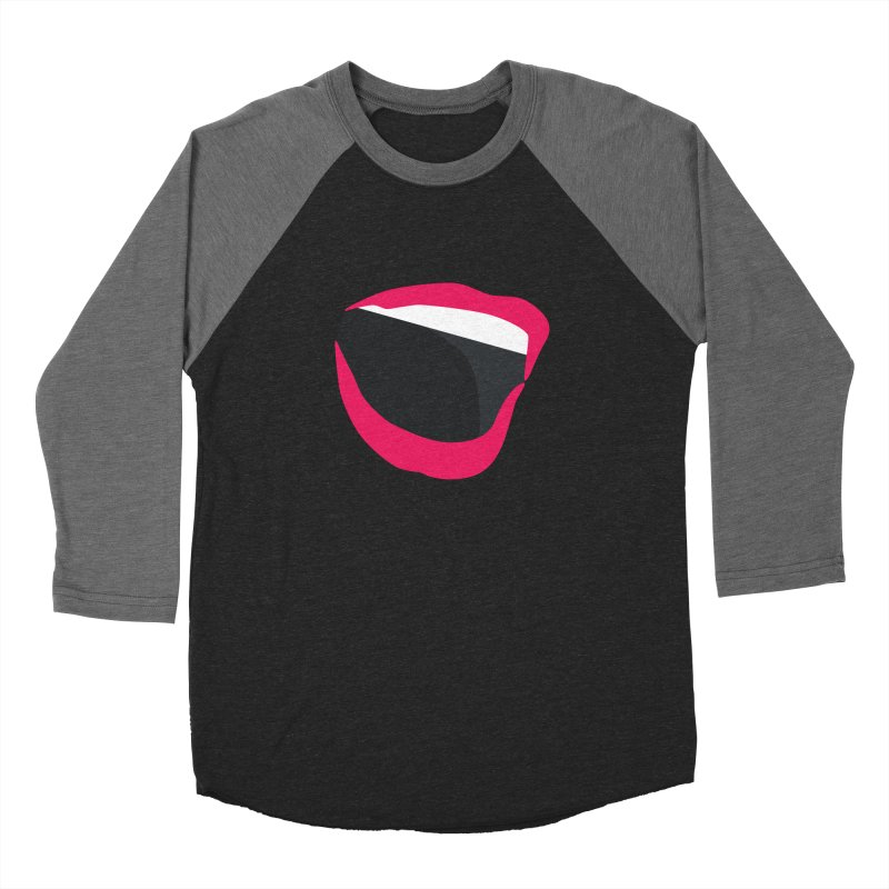 A woman's voice - RED LIPS Men's Baseball Triblend Longsleeve T-Shirt by Arlon – Minimal apparel shop
