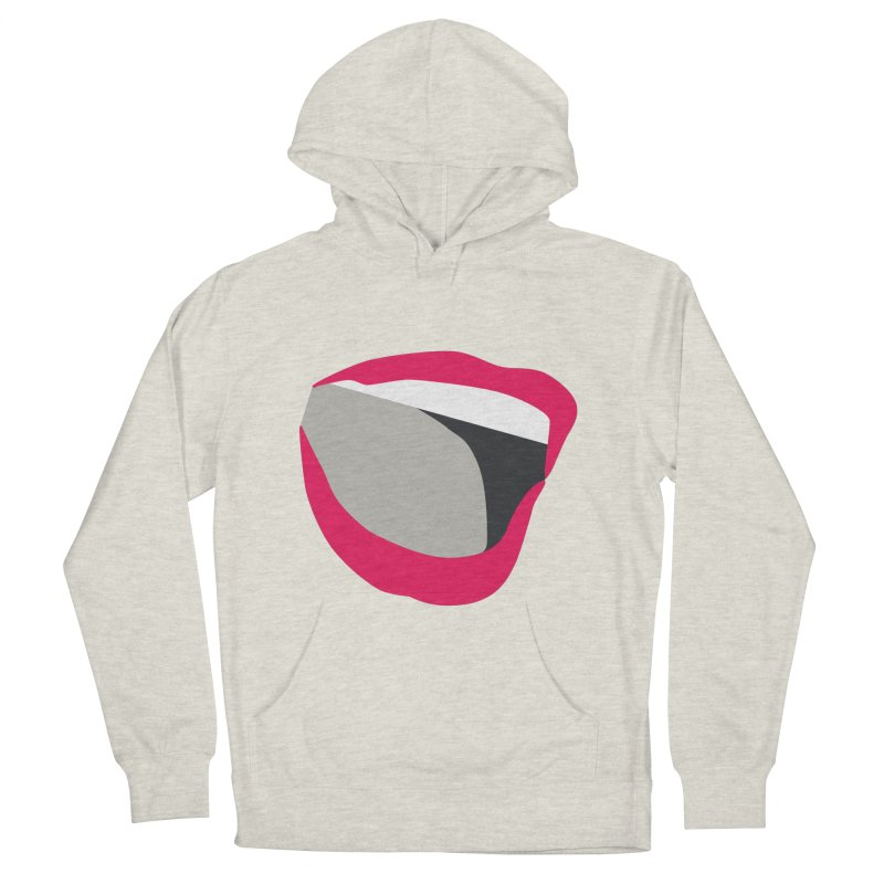 A woman's voice - RED LIPS Women's French Terry Pullover Hoody by Arlon – Minimal apparel shop