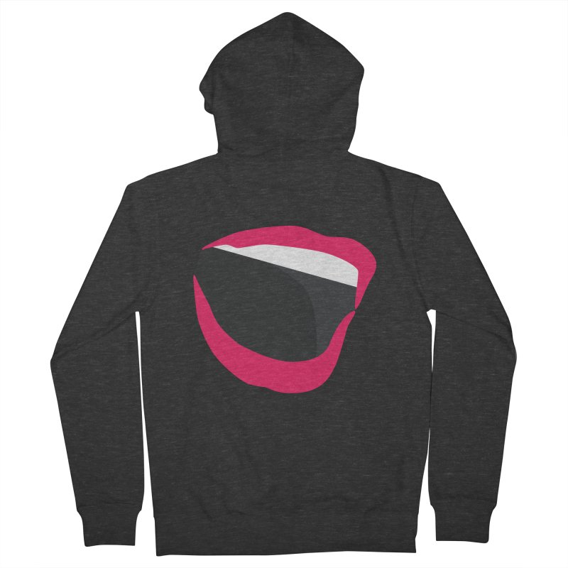 A woman's voice - RED LIPS Men's Zip-Up Hoody by Arlon – Minimal apparel shop