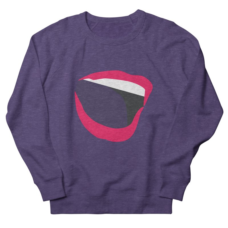 A woman's voice - RED LIPS Men's French Terry Sweatshirt by Arlon – Minimal apparel shop