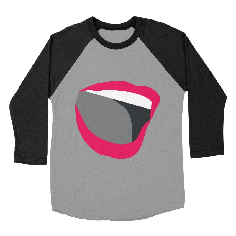 A woman's voice - RED LIPS Women's Baseball Triblend Longsleeve T-Shirt by Arlon – Minimal apparel shop