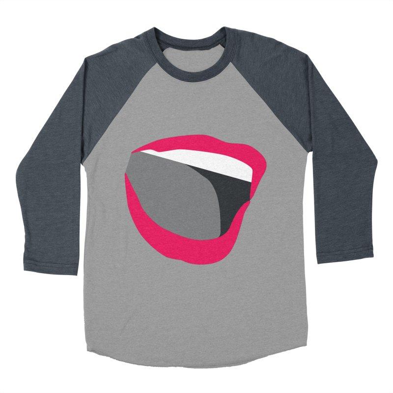 A woman's voice - RED LIPS Women's Baseball Triblend Longsleeve T-Shirt by Arlon – Minimal apparel shop