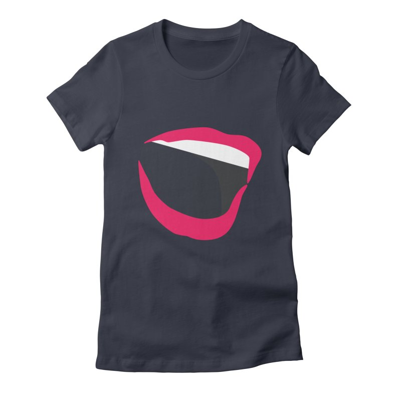 A woman's voice - RED LIPS Women's Fitted T-Shirt by Arlon – Minimal apparel shop