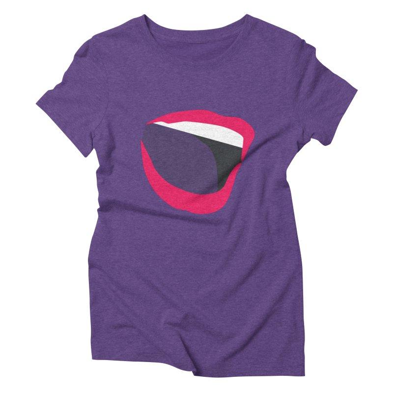 A woman's voice - RED LIPS Women's Triblend T-Shirt by Arlon – Minimal apparel shop