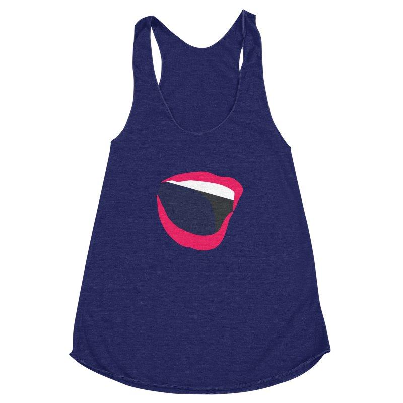 A woman's voice - RED LIPS Women's Racerback Triblend Tank by Arlon – Minimal apparel shop