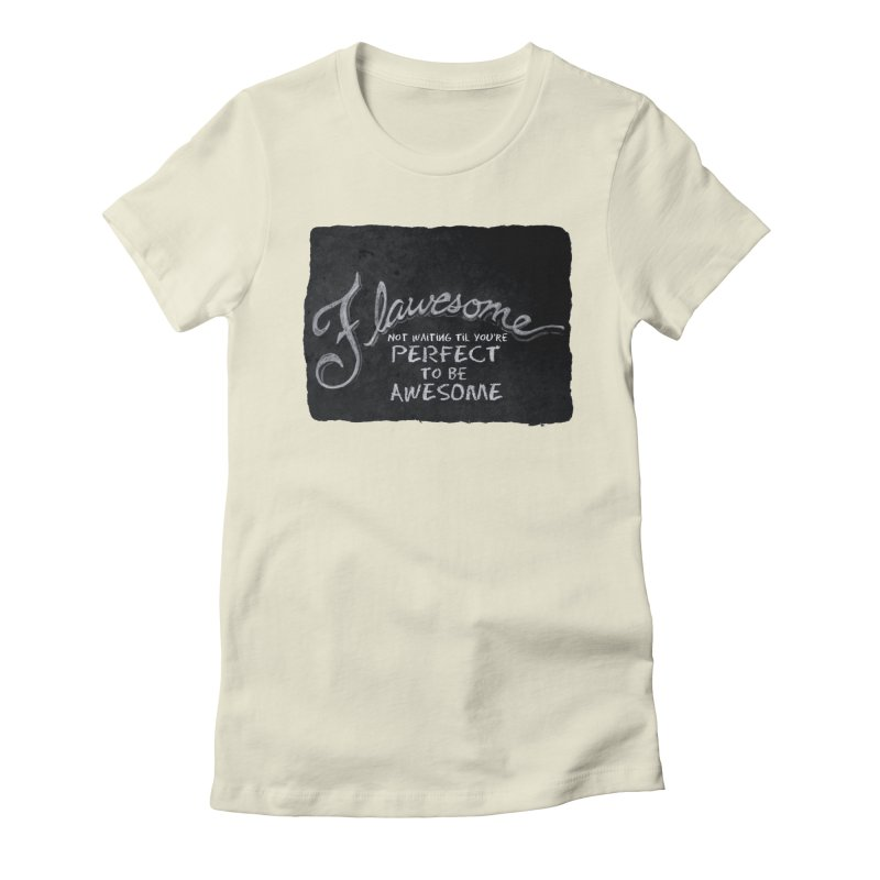 Flawesome Women's Fitted T-Shirt by Armando's Artist Shop