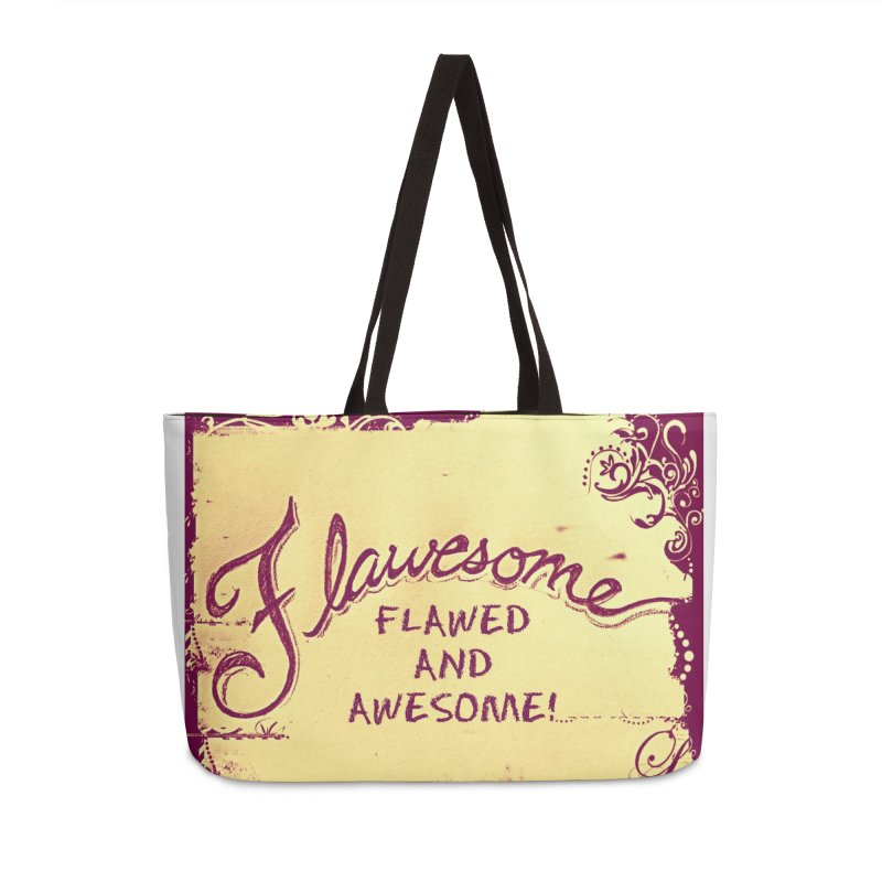 Flawesome - Flawed AND Awesome! Accessories Bag by Armando's Artist Shop