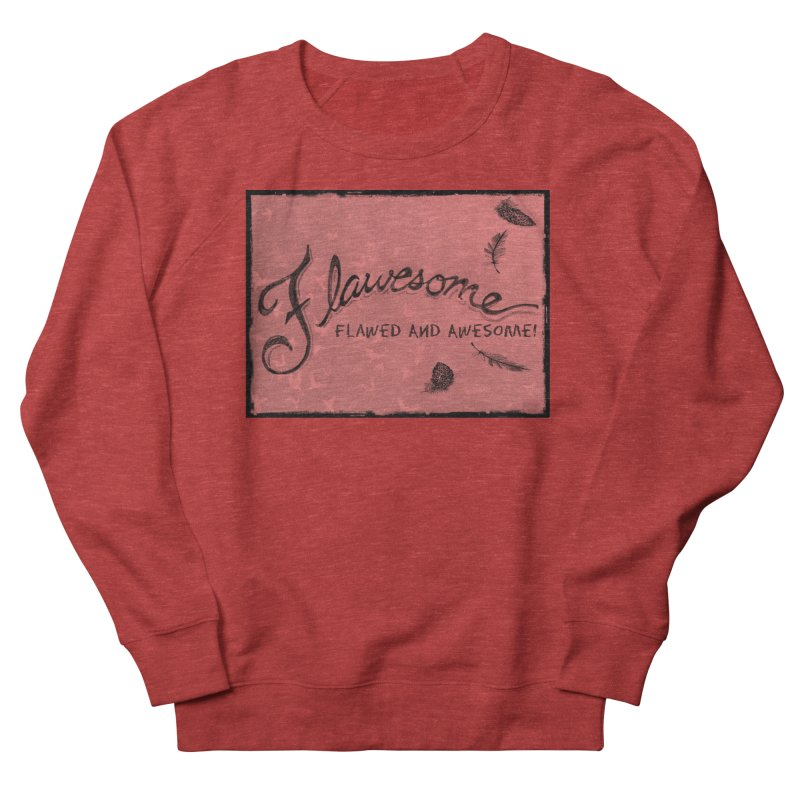 Flawesome - Feathers Women's French Terry Sweatshirt by Armando's Artist Shop