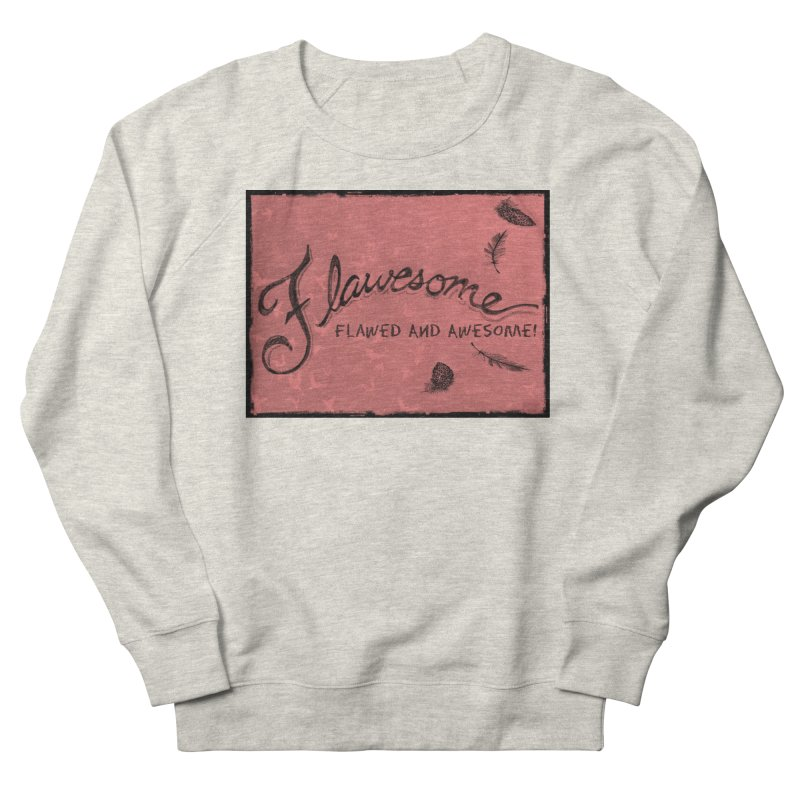 Flawesome - Feathers Men's French Terry Sweatshirt by Armando's Artist Shop