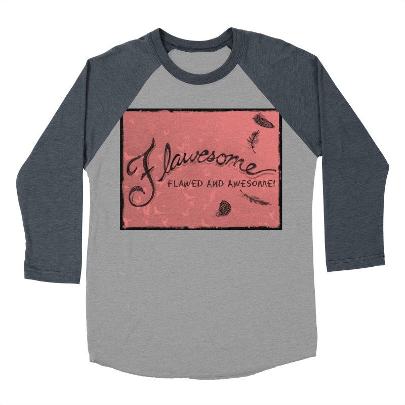 Flawesome - Feathers Men's Baseball Triblend Longsleeve T-Shirt by Armando's Artist Shop