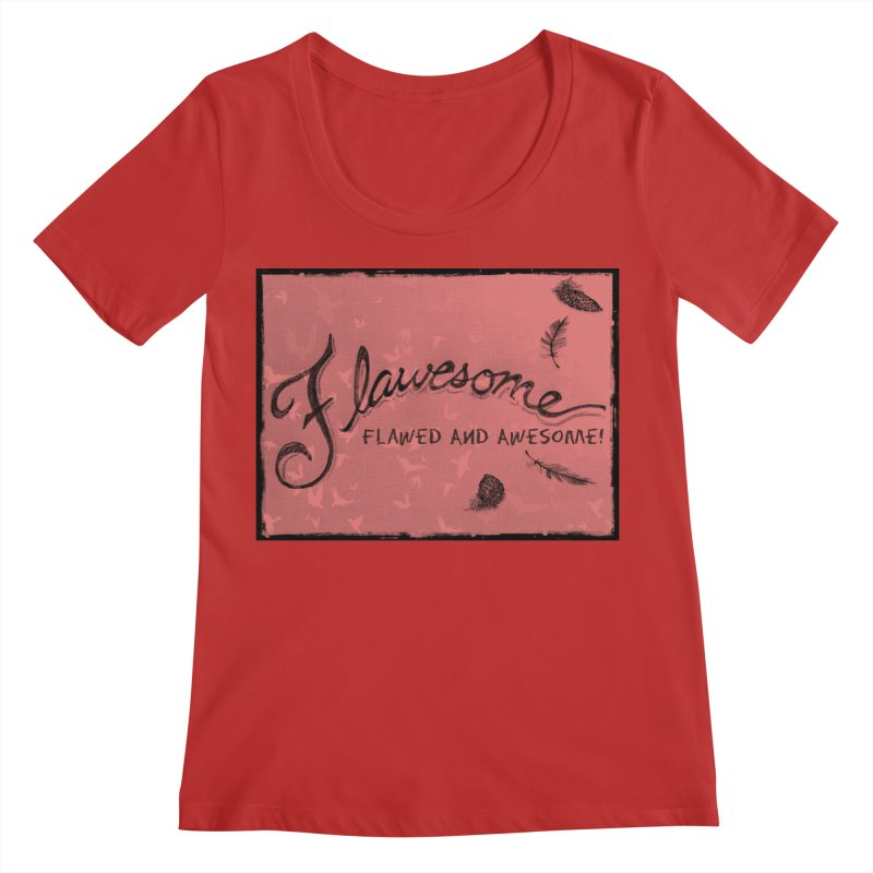 Flawesome - Feathers Women's Regular Scoop Neck by Armando's Artist Shop