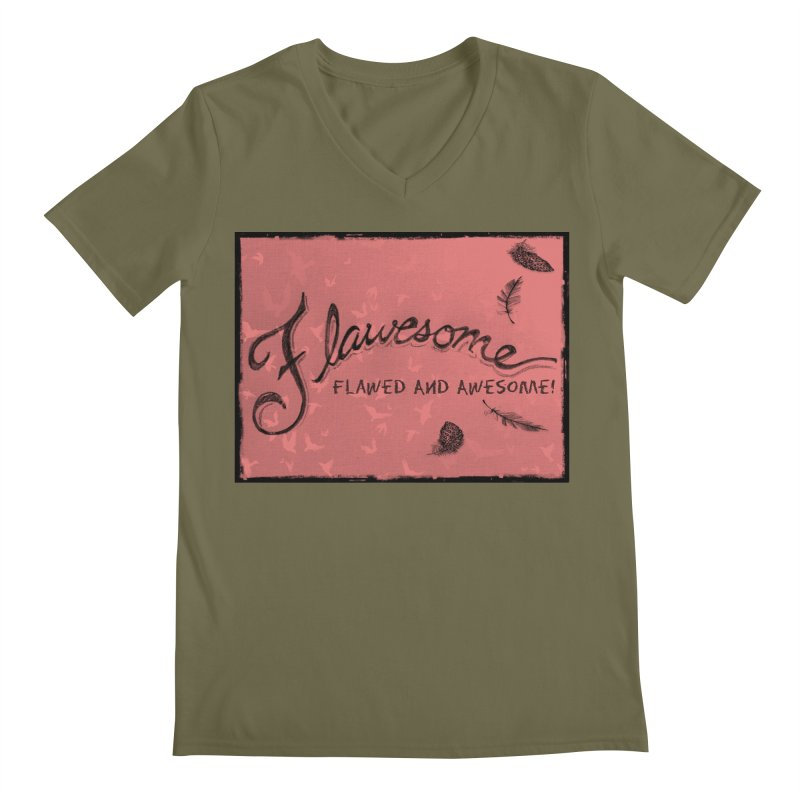 Flawesome - Feathers Men's Regular V-Neck by Armando's Artist Shop