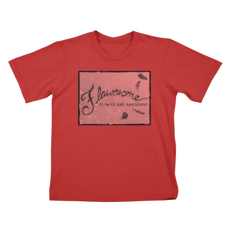 Flawesome - Feathers Kids T-Shirt by Armando's Artist Shop