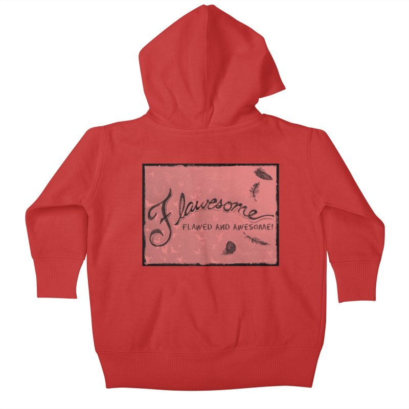 Flawesome - Feathers Kids Baby Zip-Up Hoody by Armando's Artist Shop