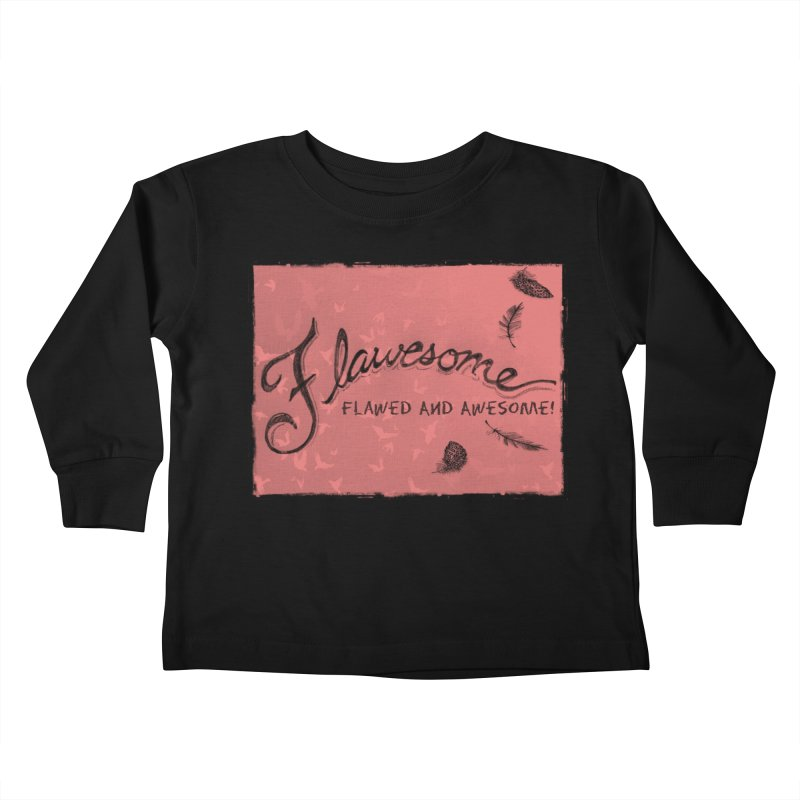 Flawesome - Feathers Kids Toddler Longsleeve T-Shirt by Armando's Artist Shop