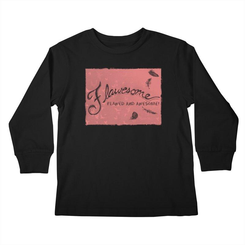 Flawesome - Feathers Kids Longsleeve T-Shirt by Armando's Artist Shop