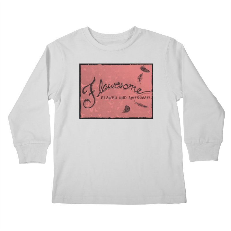 Flawesome - Feathers Kids Longsleeve T-Shirt by Armando's Artist Shop
