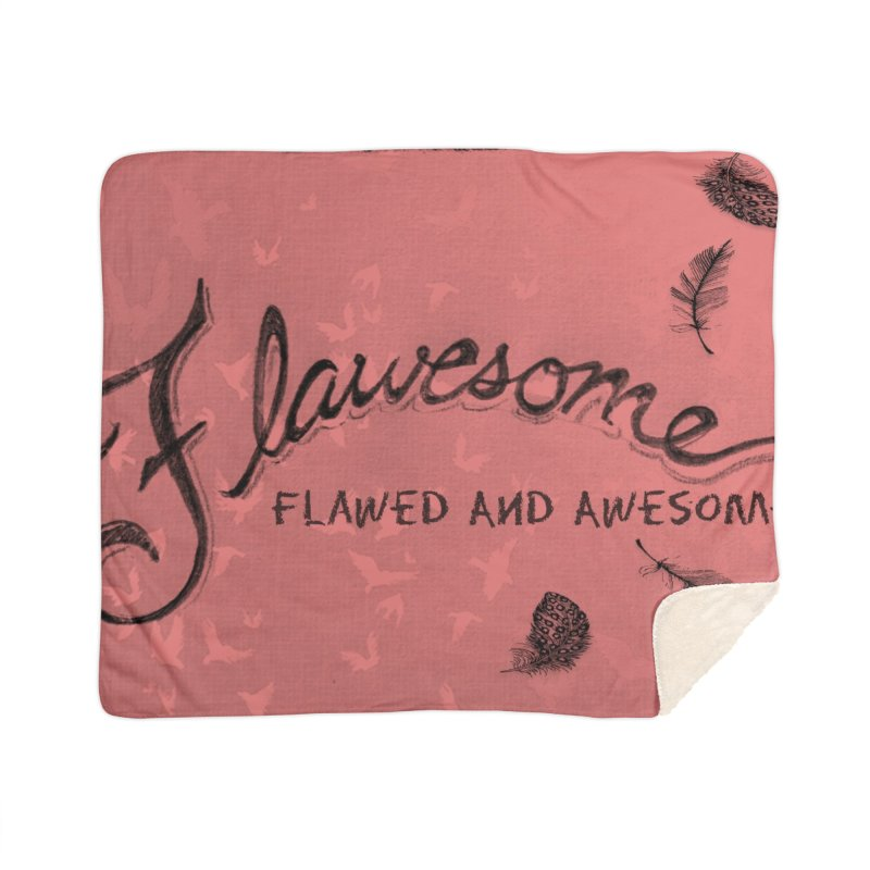 Flawesome - Feathers Home Sherpa Blanket Blanket by Armando's Artist Shop