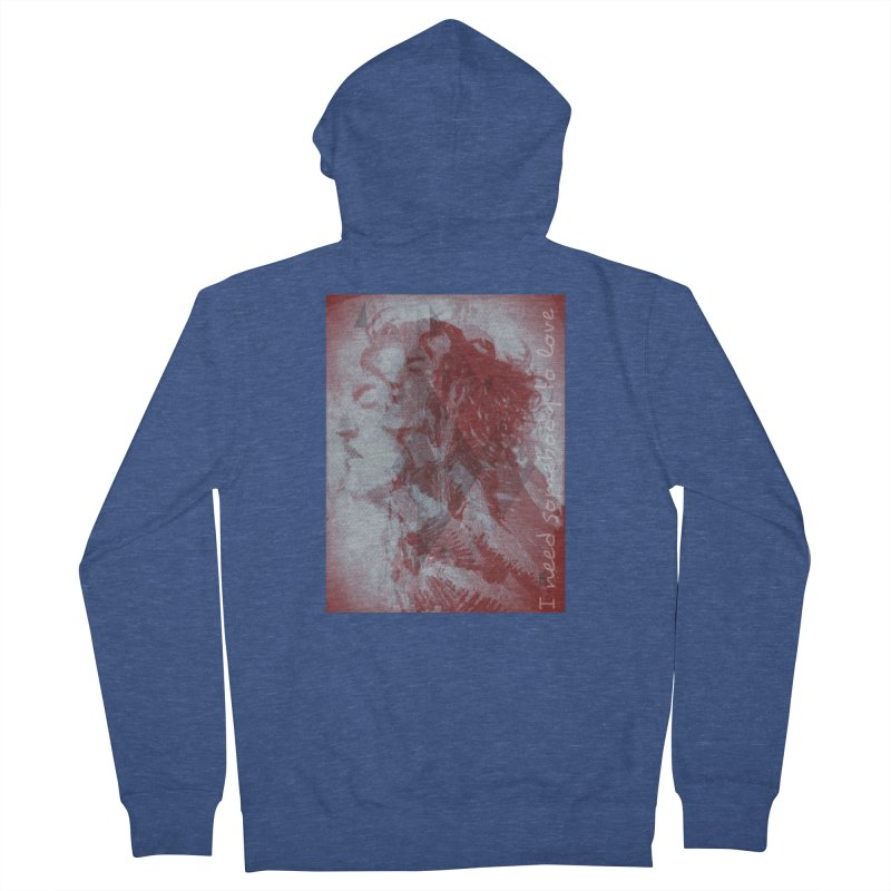 ROCKFACE: With A Little Help from My Friends Men's French Terry Zip-Up Hoody by Armando's Artist Shop