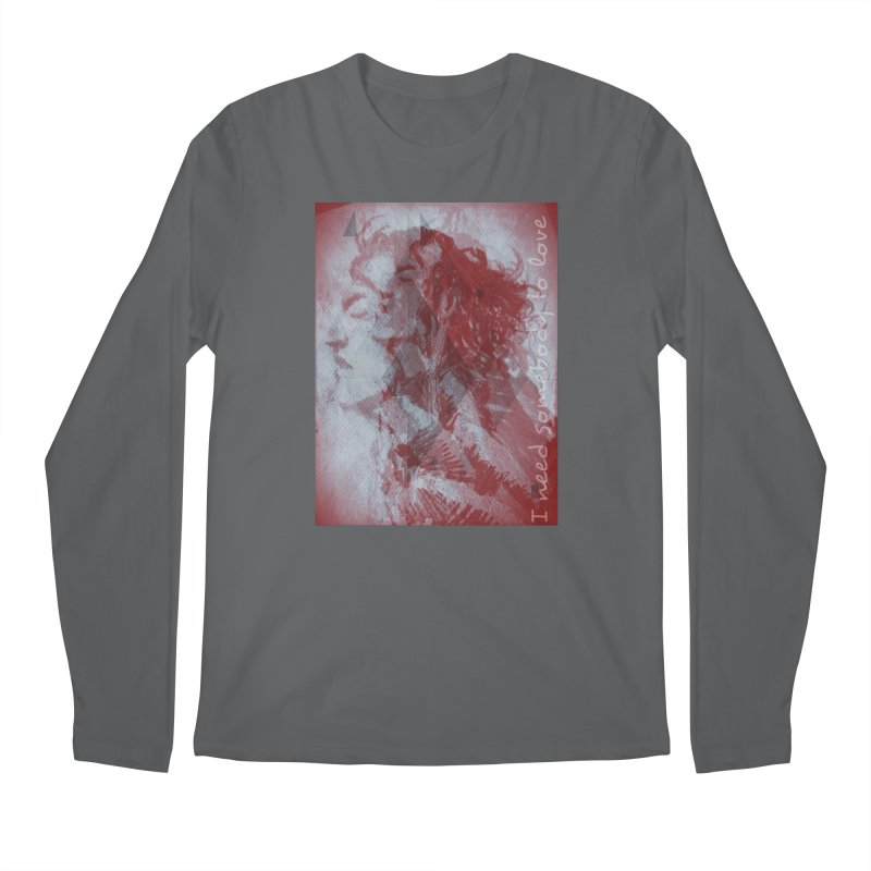 ROCKFACE: With A Little Help from My Friends Men's Longsleeve T-Shirt by Armando's Artist Shop