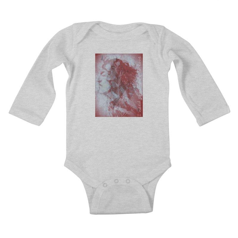 ROCKFACE: With A Little Help from My Friends Kids Baby Longsleeve Bodysuit by Armando's Artist Shop