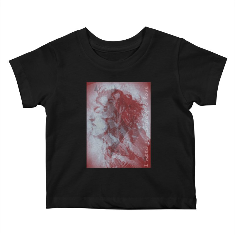 ROCKFACE: With A Little Help from My Friends Kids Baby T-Shirt by Armando's Artist Shop