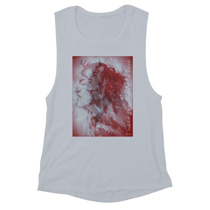 ROCKFACE: With A Little Help from My Friends Women's Muscle Tank by Armando's Artist Shop