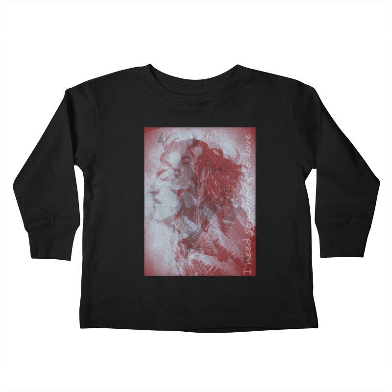 ROCKFACE: With A Little Help from My Friends Kids Toddler Longsleeve T-Shirt by Armando's Artist Shop