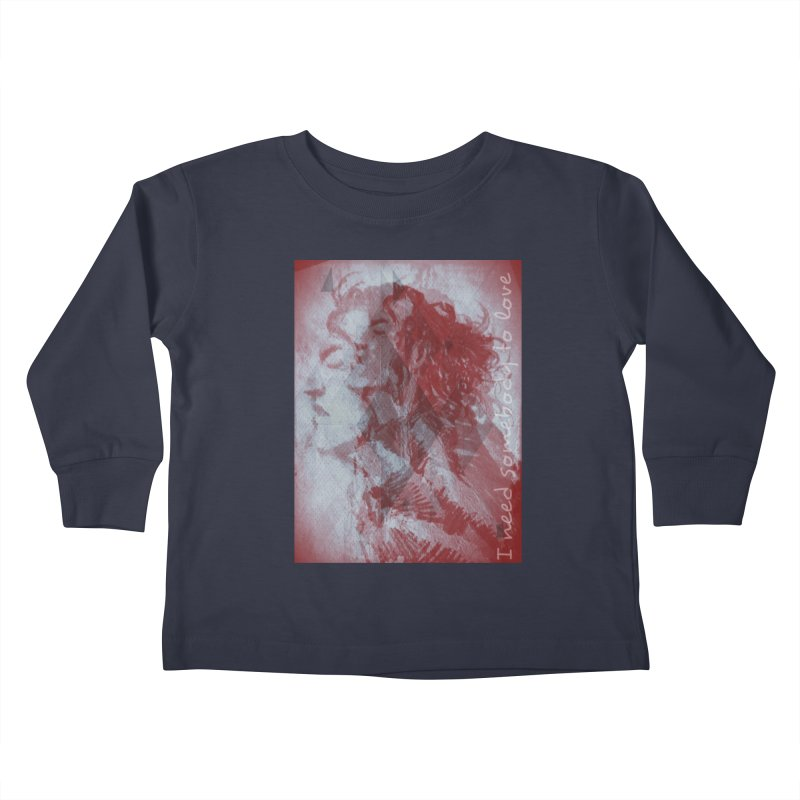 ROCKFACE: With A Little Help from My Friends Kids Toddler Longsleeve T-Shirt by Armando's Artist Shop