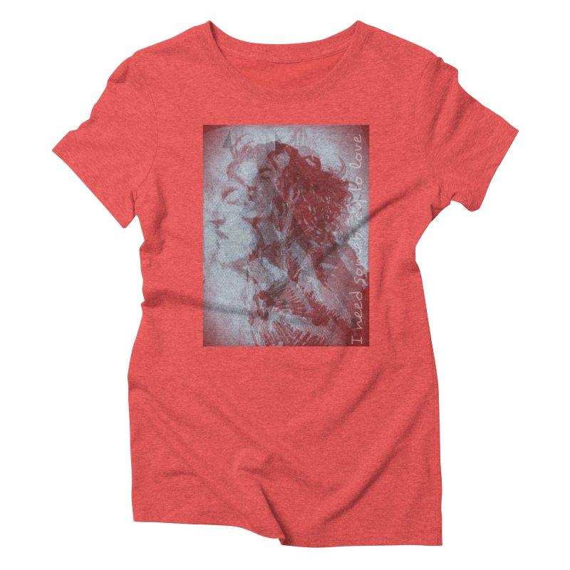 ROCKFACE: With A Little Help from My Friends Women's Triblend T-Shirt by Armando's Artist Shop
