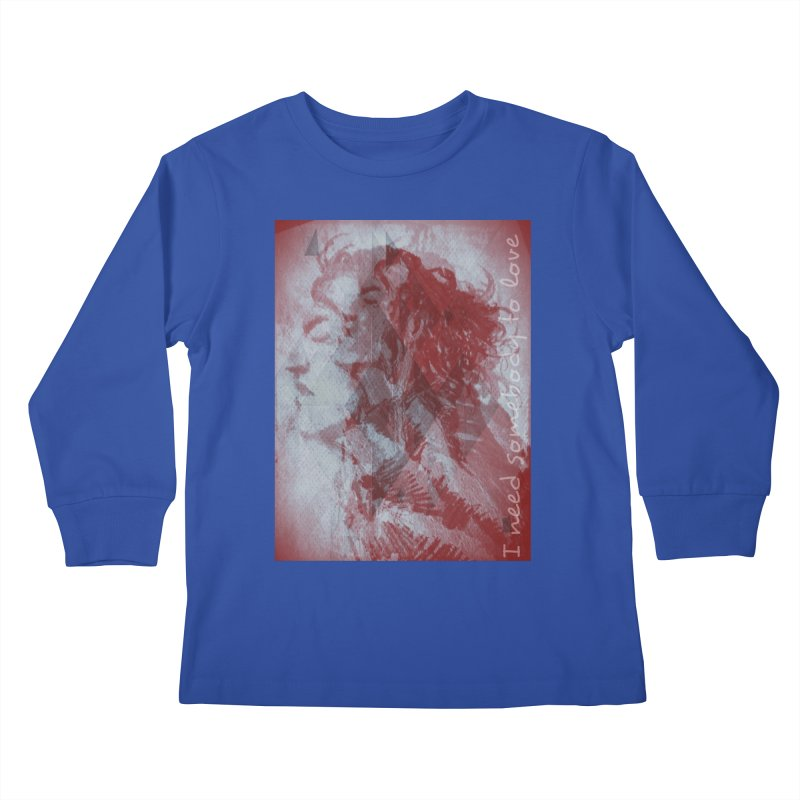 ROCKFACE: With A Little Help from My Friends Kids Longsleeve T-Shirt by Armando's Artist Shop