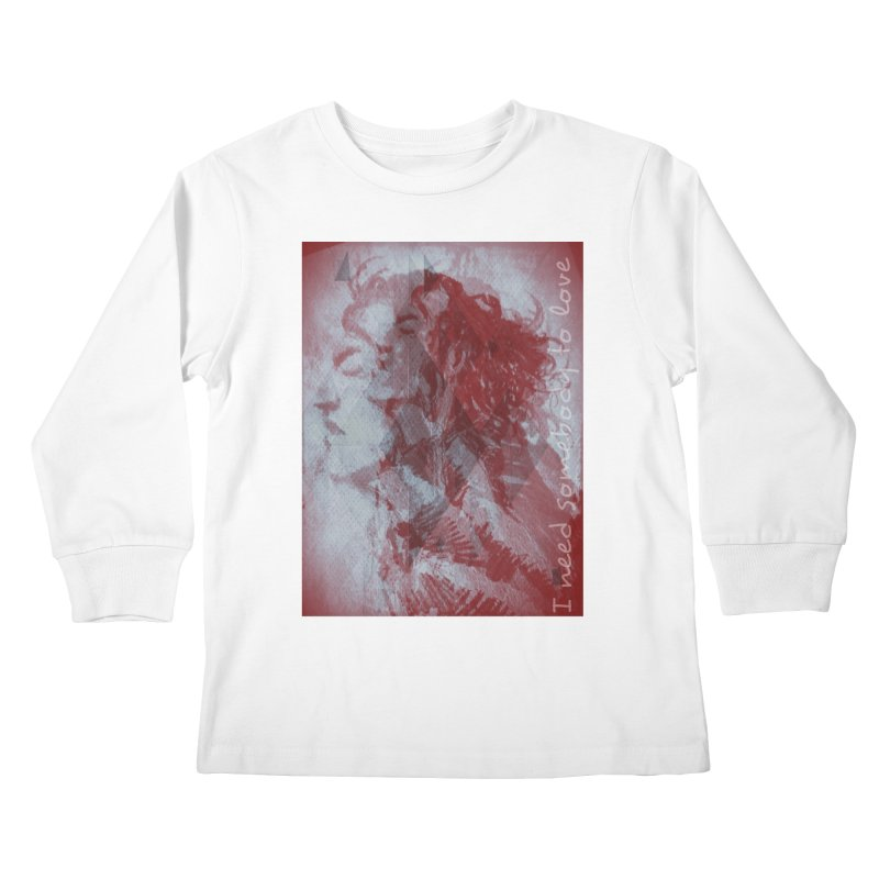 ROCKFACE: With A Little Help from My Friends Kids Longsleeve T-Shirt by Armando's Artist Shop