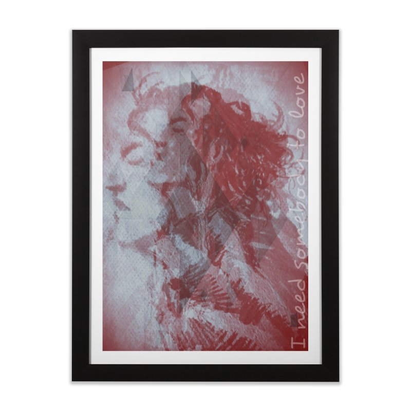 ROCKFACE: With A Little Help from My Friends Home Framed Fine Art Print by Armando's Artist Shop