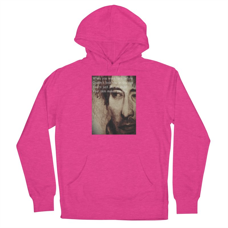 ROCKFACE: Thom Yorke Women's French Terry Pullover Hoody by Armando's Artist Shop