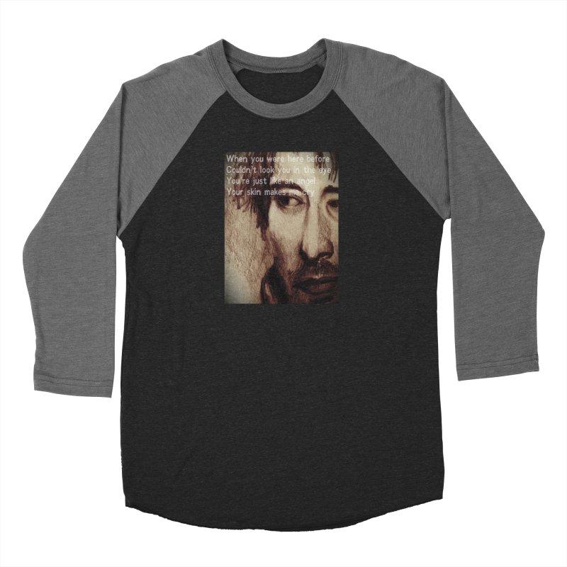 ROCKFACE: Thom Yorke Women's Baseball Triblend Longsleeve T-Shirt by Armando's Artist Shop