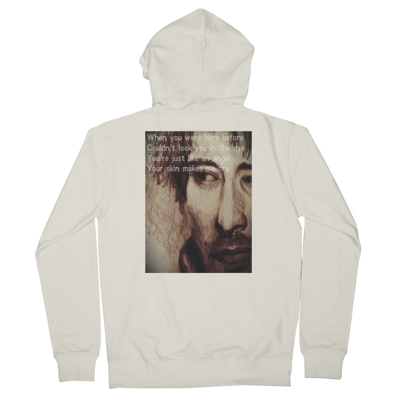 ROCKFACE: Thom Yorke Women's French Terry Zip-Up Hoody by Armando's Artist Shop