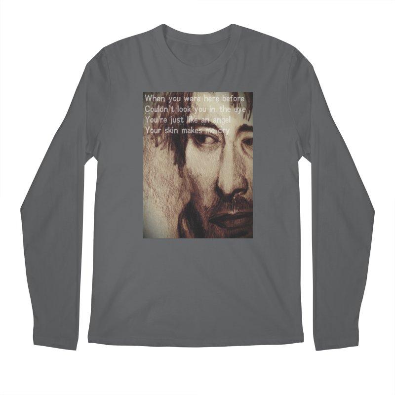 ROCKFACE: Thom Yorke Men's Longsleeve T-Shirt by Armando's Artist Shop
