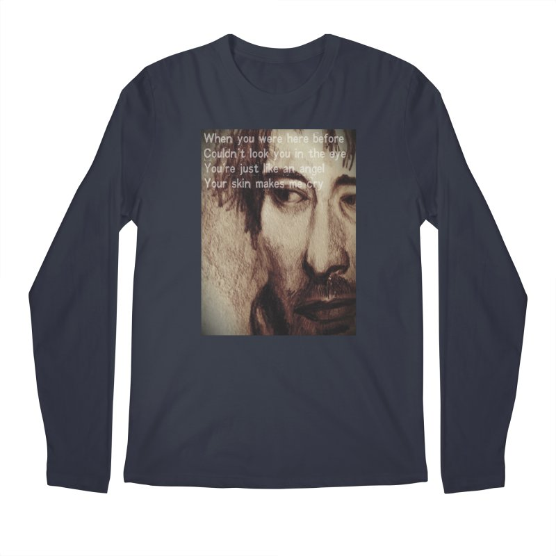 ROCKFACE: Thom Yorke Men's Regular Longsleeve T-Shirt by Armando's Artist Shop