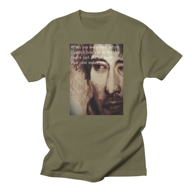 ROCKFACE: Thom Yorke Men's T-Shirt by Armando's Artist Shop