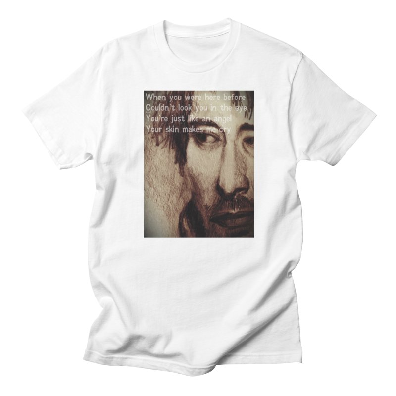 ROCKFACE: Thom Yorke Men's Regular T-Shirt by Armando's Artist Shop