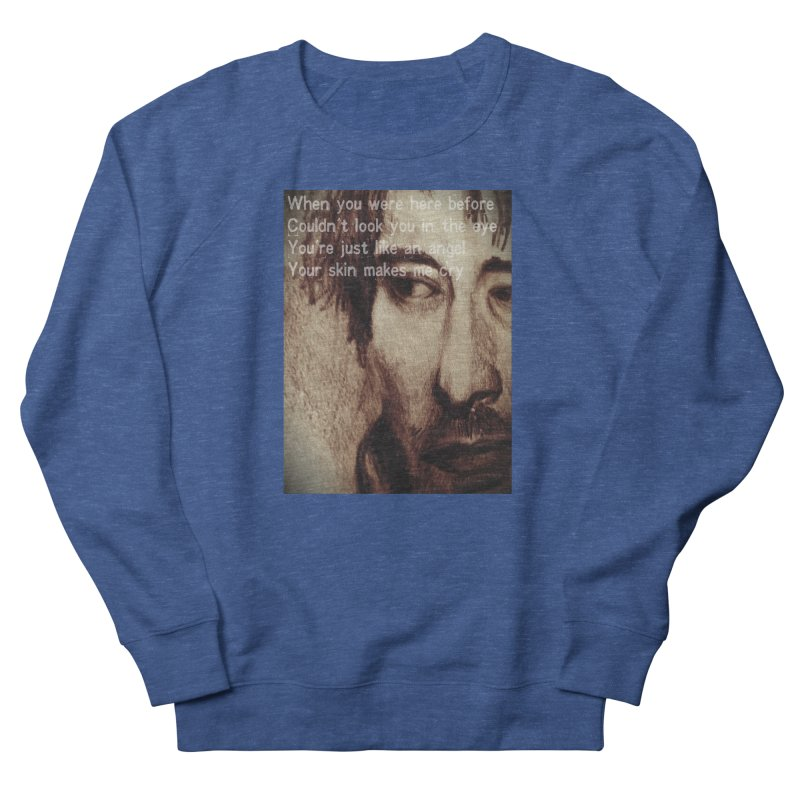 ROCKFACE: Thom Yorke Women's French Terry Sweatshirt by Armando's Artist Shop