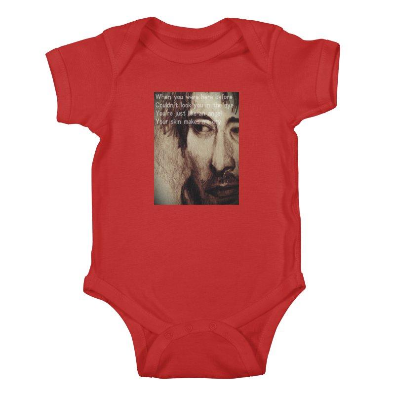 ROCKFACE: Thom Yorke Kids Baby Bodysuit by Armando's Artist Shop