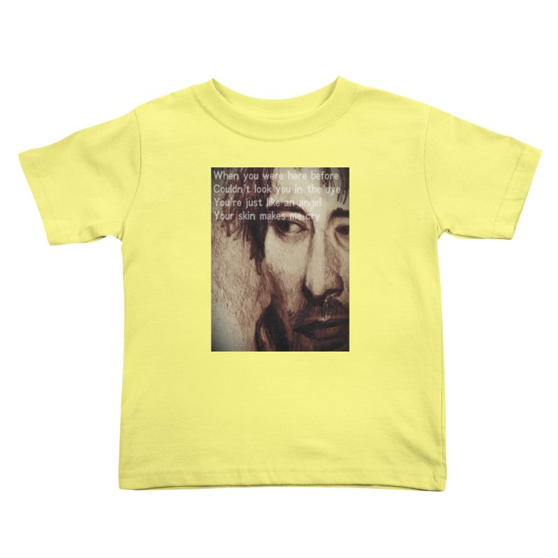 ROCKFACE: Thom Yorke Kids Toddler T-Shirt by Armando's Artist Shop