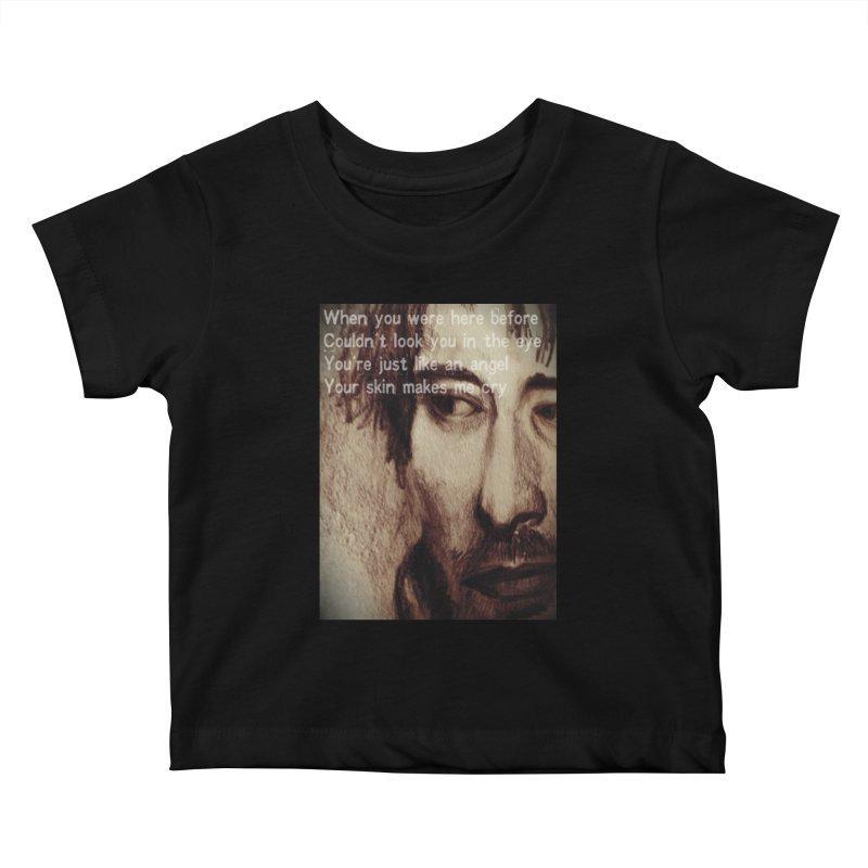 ROCKFACE: Thom Yorke Kids Baby T-Shirt by Armando's Artist Shop